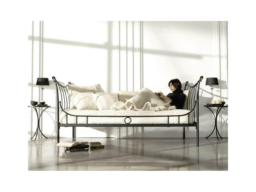 banquette nuria en fer forge haut de gamme meuble pour la chambre le monde du lit