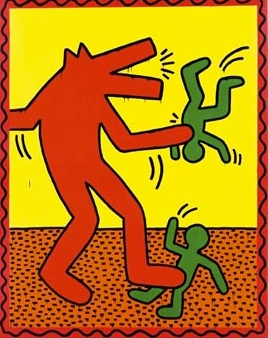 Keith Haring, barking dog 2