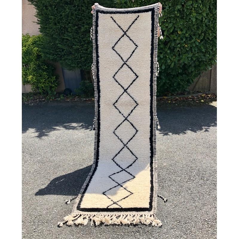 tapis berbere fait main 100 laine moyen atlas piece unique