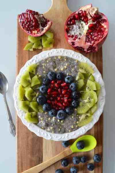 Pouding-porridge de sarrasin et chia (vegan & sans gluten)