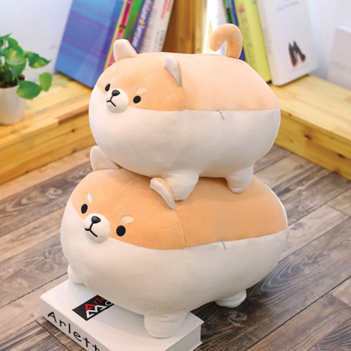 Peluches shiba tailles