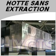 Hotte Professionnelle Sans Evacuation Exterieure Largeur 1500mm Sans Conduit Pour Restaurant