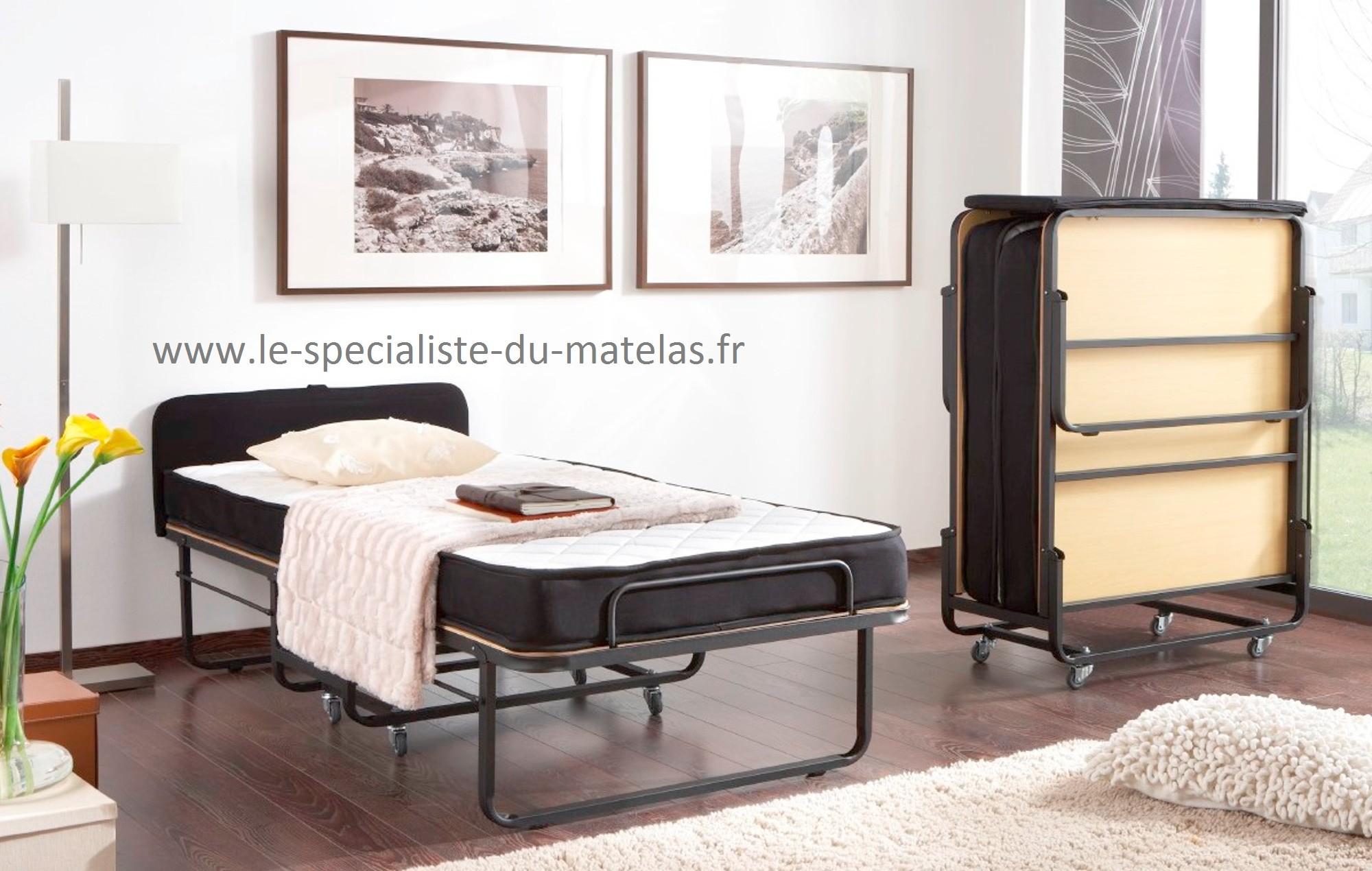 lit pliant avec tete de lit a decouvrir au le specialiste du matelas