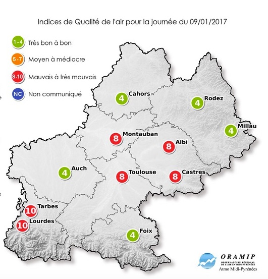 La pollution s'installe à Toulouse