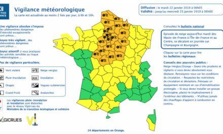 Neige : 24 département en vigilance orange