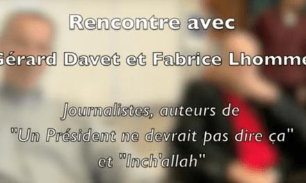 Gérard Davet et Fabrice Lhomme : «Être journaliste, c'est avoir faim de tout»