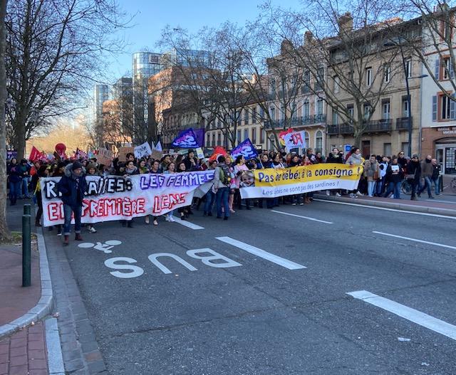 DIRECT : Huitième journée de mobilisation nationale contre la réforme des retraites à Toulouse