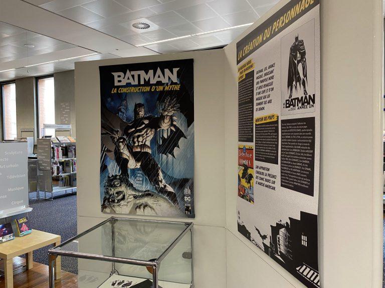 L'exposition Batman : La Création d'un Mythe à la médiathèque José Cabanis. Crédit: Nicolas Sadourny