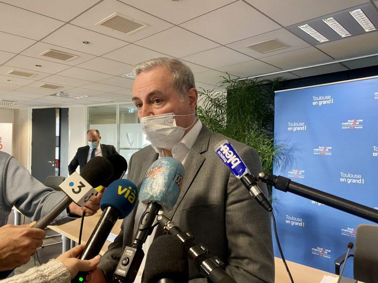 Le maire de Toulouse Jean-Luc Moudenc lors des vœux à la presse ce jeudi. Crédit : Guillaume Pannetier