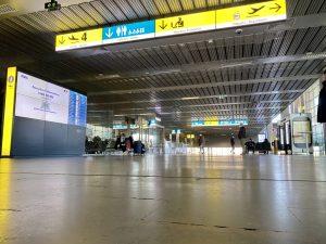 Peu de personnes à l'arrivée de l'aéroport de Toulouse-Blagnac. Crédit : Guillaume Pannetier