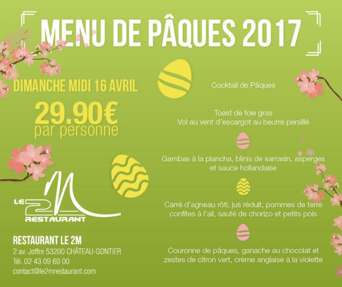 Menu Pques 2017 Le 2M