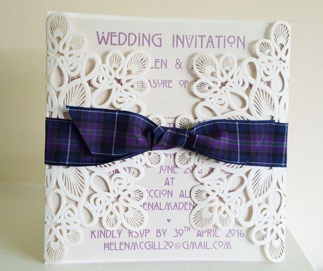 Scottish Wedding Themed Invitations