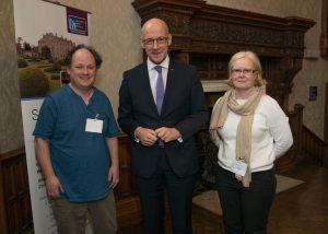 David Leathar, John Swinney, Donna Morley