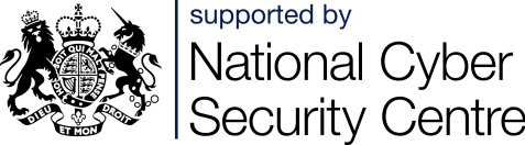 Royal armour symbol. Supported by National Cyber Security Centre.