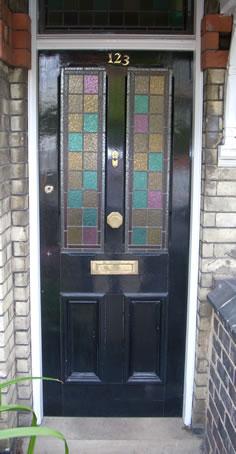 Coloured Square Lead Door Design Kettering