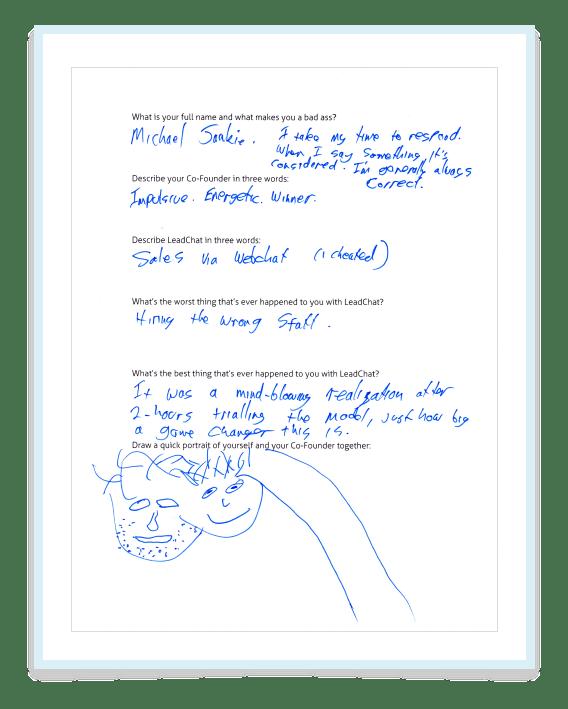 Michael Questionnaire