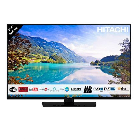 televiseur led 55 cm avec recepteur satellite integre smartvue wifi leader loisirs