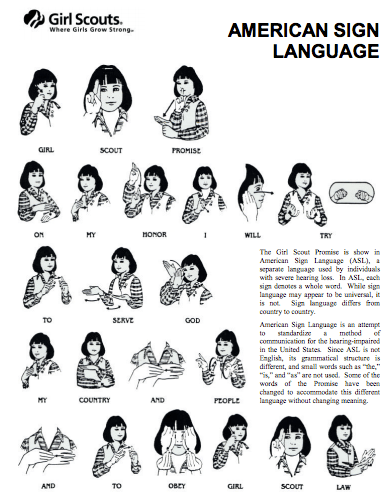 Sign Language promise