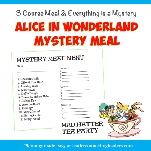 Girl Scout Alice In Wonderland Mystery Meal