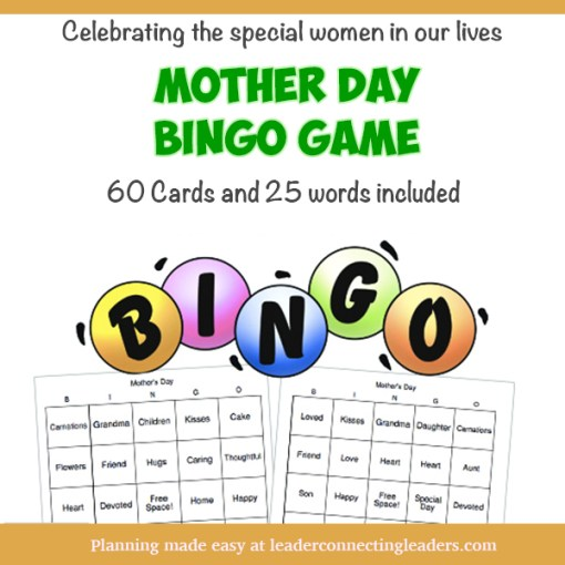 Girl Scout Mother Day Bingo