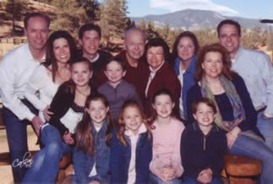 Walt Henrichsen and his familly