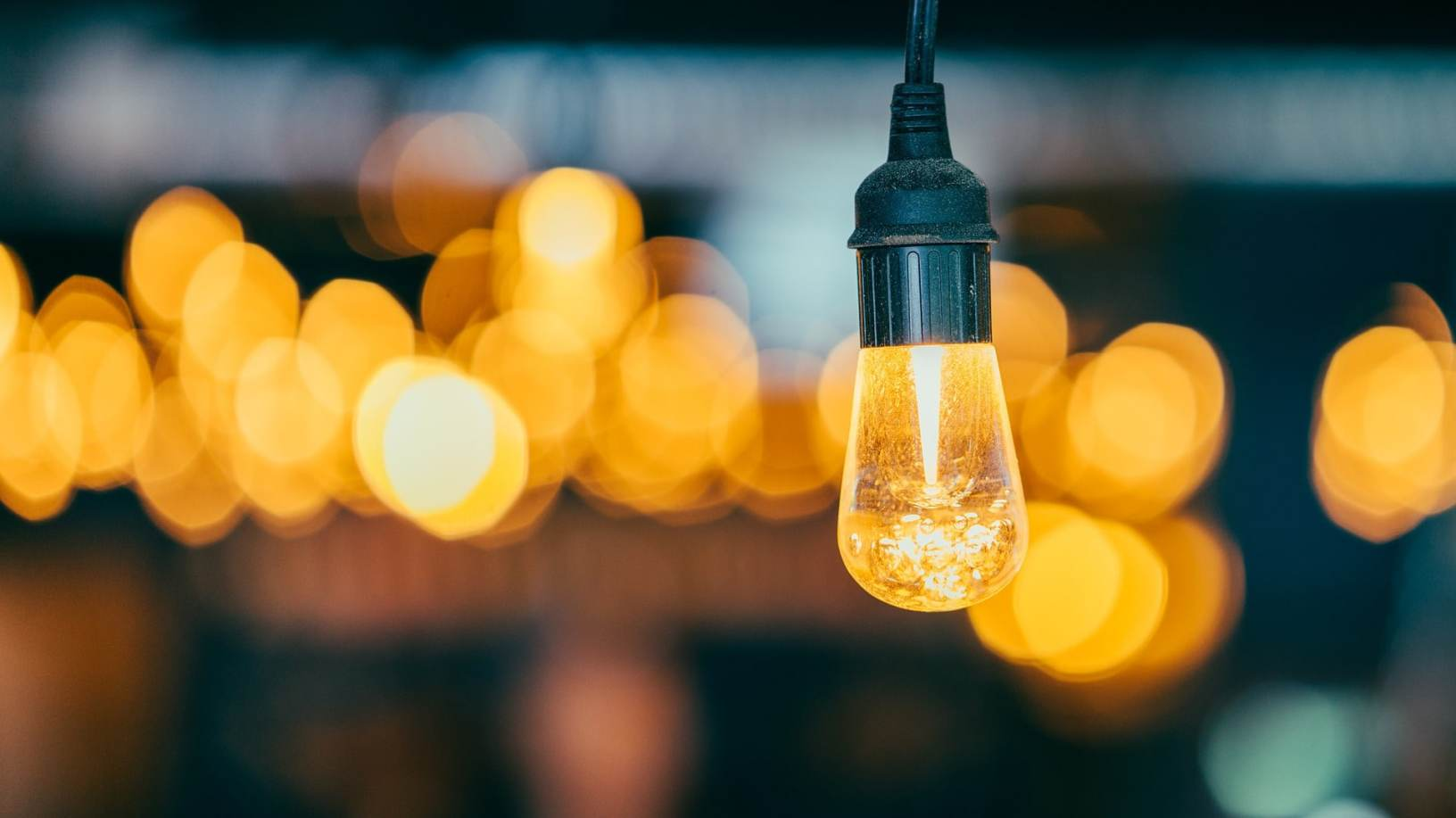 Idea demonstrated by lightbulb