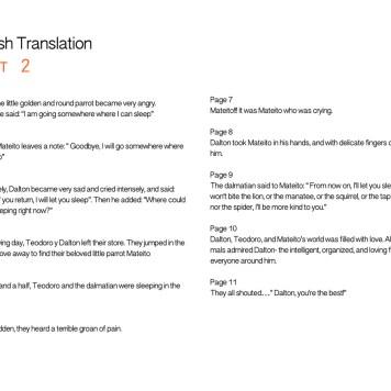 El Dálmata de Teodoro Translation Page 2
