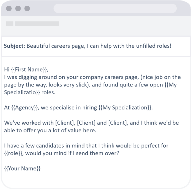 Cold recruiting email templates that deliver 27%+ response rate