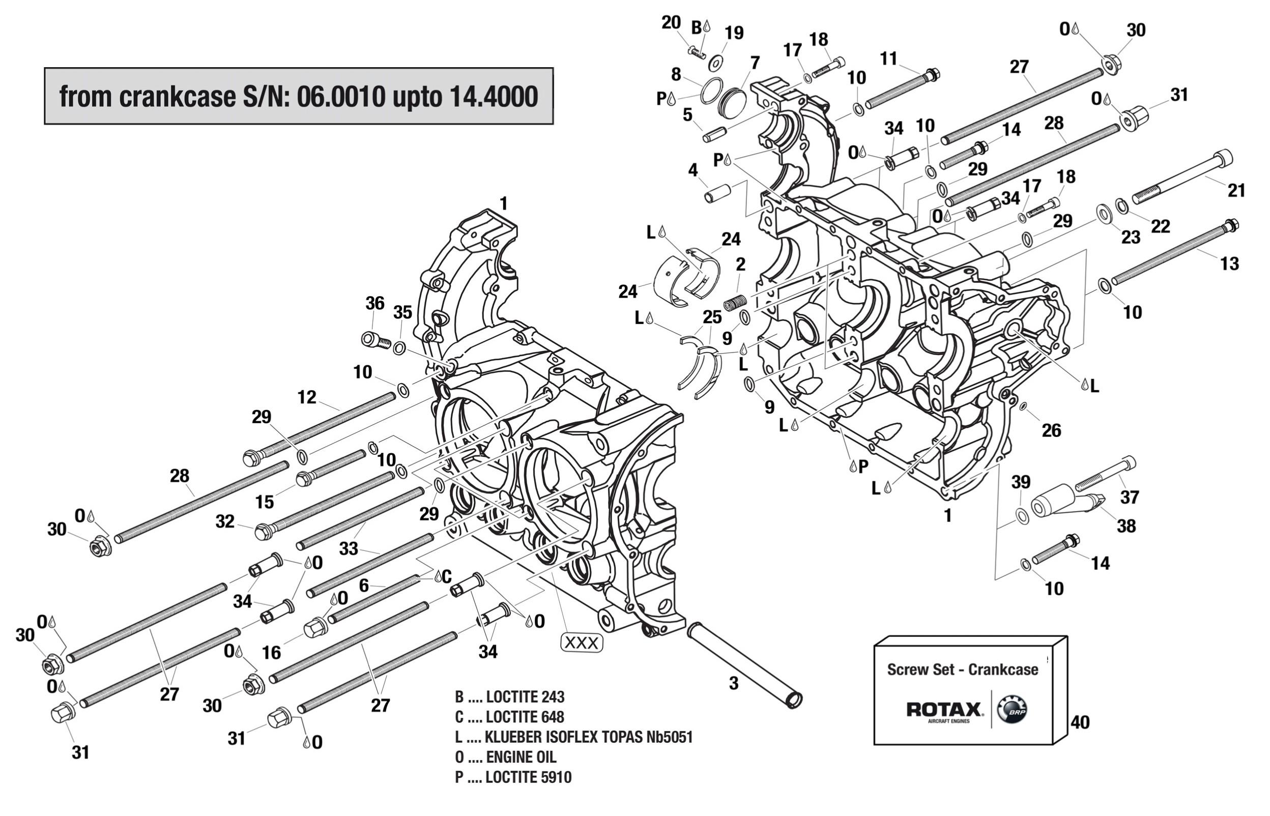 912 Amp 914 Crankcase S N 06 Up To 14