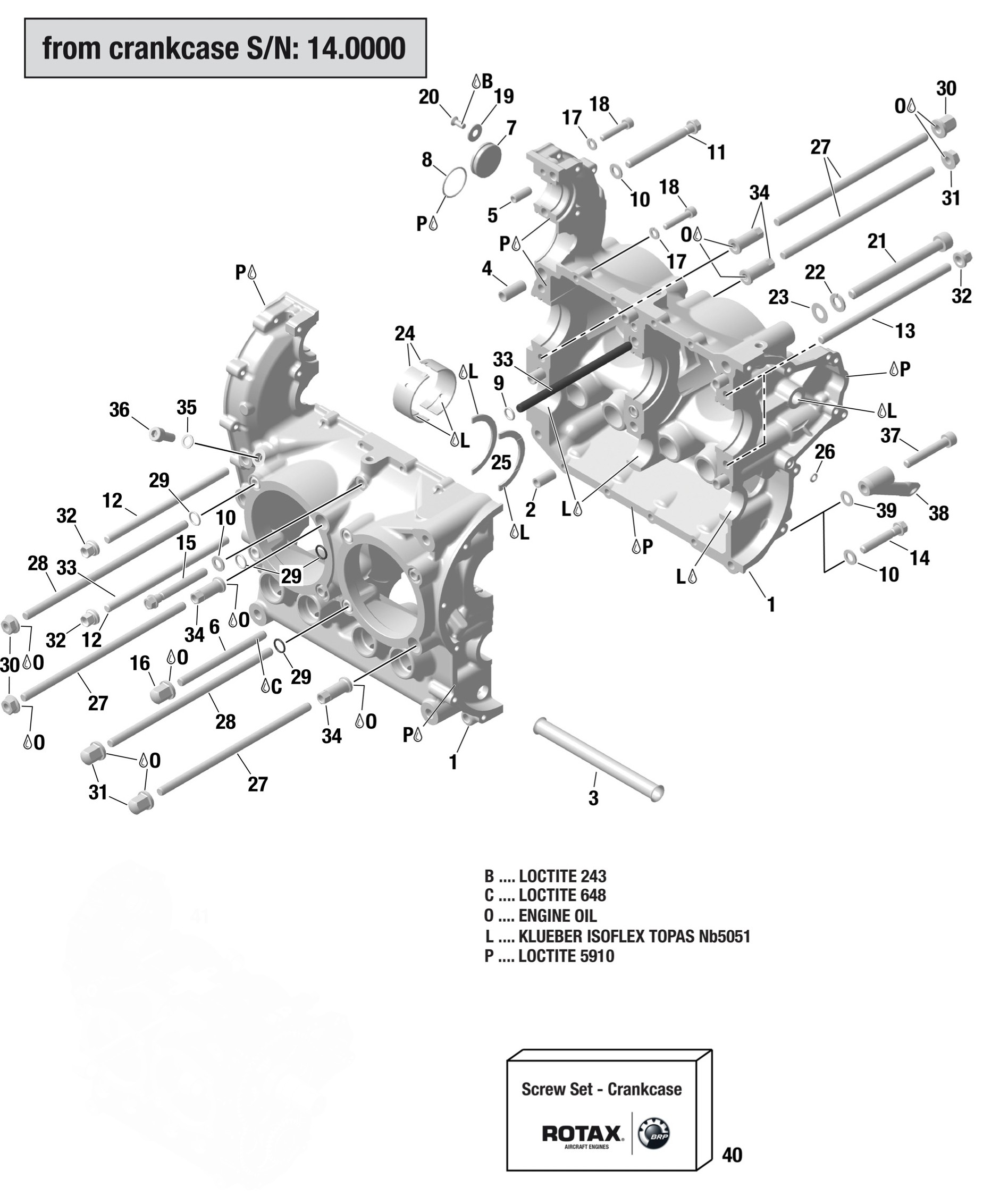 912 Amp 914 Crankcase From S N 14