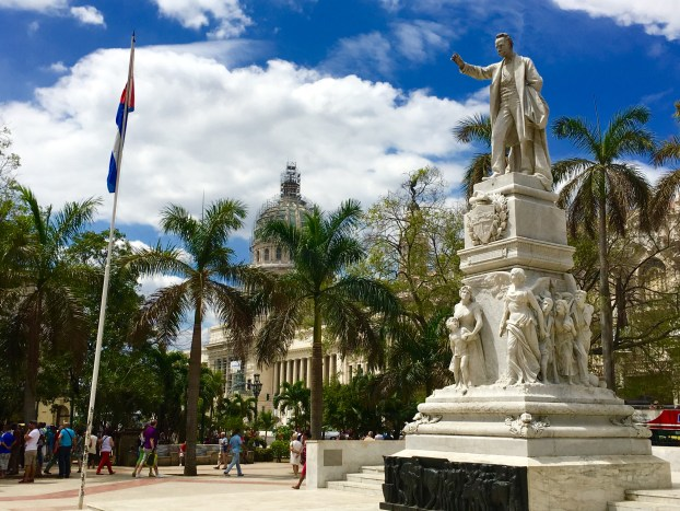 There are statues of Independence martyr Jose Marti all over Cuba. This one in Old Havana