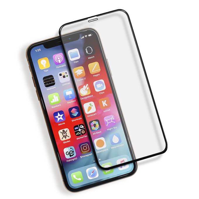 1080p HD Full Cover Tempered Glass Screen Protector for iPhone X/XS/XS Max