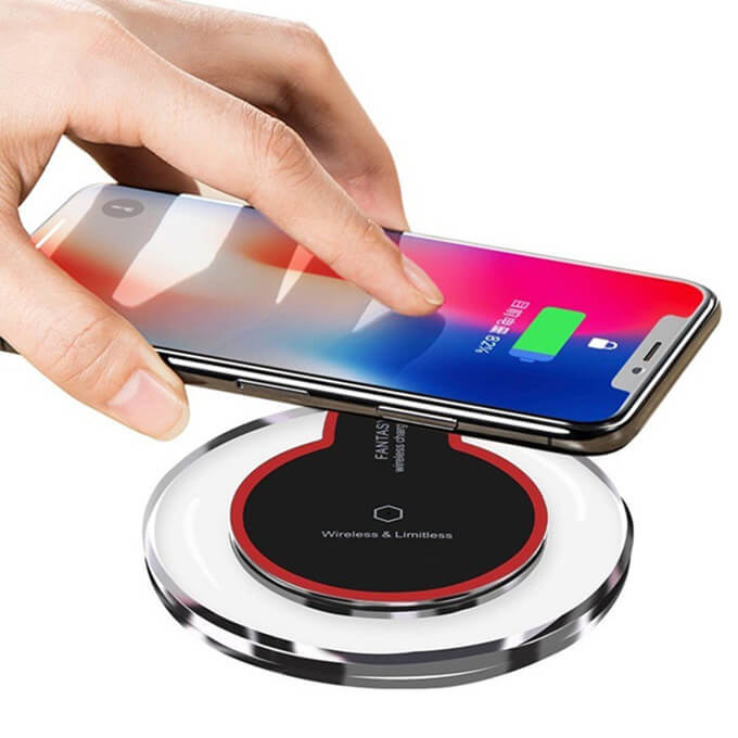 Colorful Round Charger for Smart Phone iPhone Samsung Qi Wireless Charging Pad