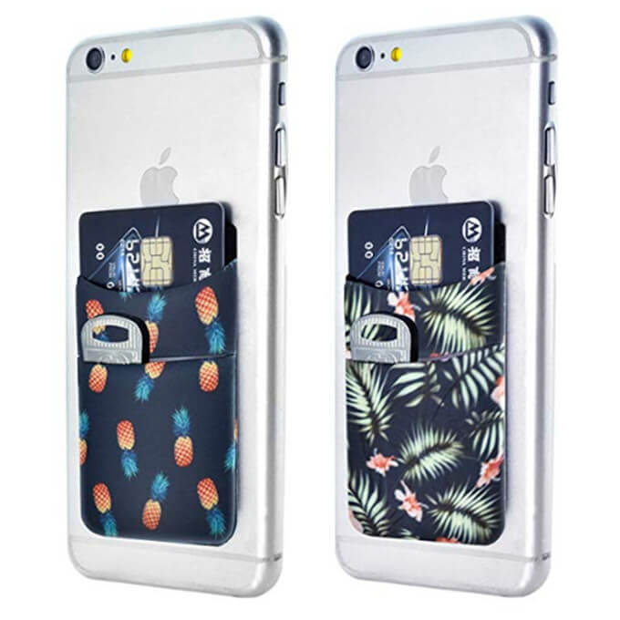 Universal Elastic Adhesive Mobile Phone Wallet Credit ID Card Holder Pocket Accessories