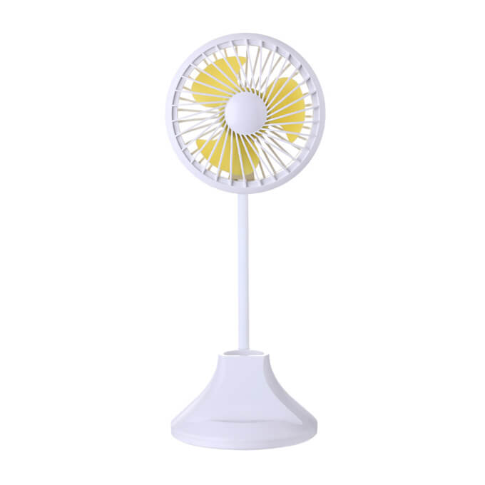 Electric Hand Fan Portable Mini USB Rechargeable Fan with Led Lights