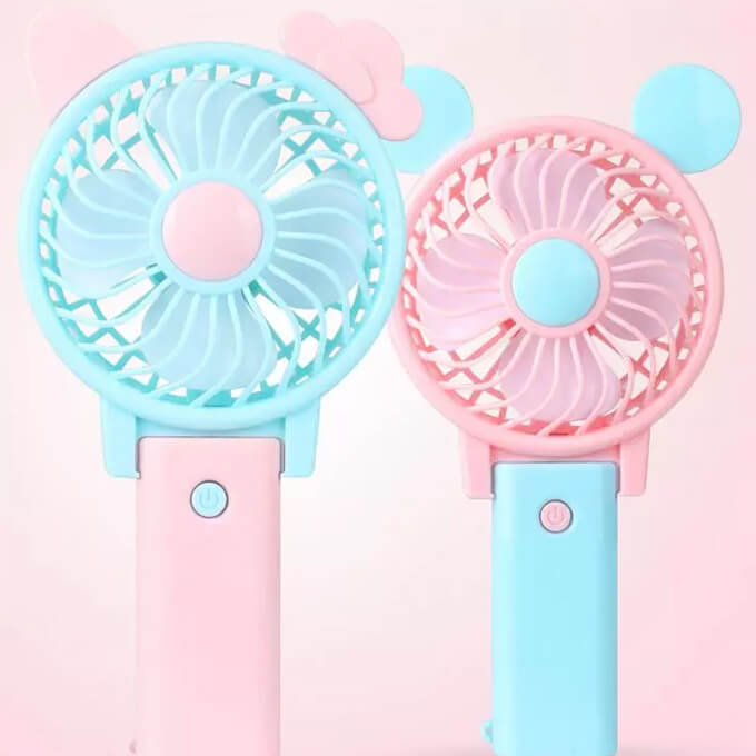 Mini Portable Cooling Travel Handheld Small Rechargeable USB Fan