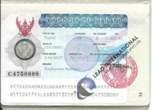 Visa Visitor thailand