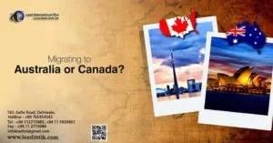 Migrating Australia or Canada