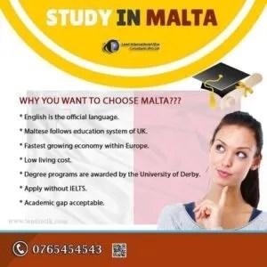 Study in malta students