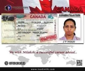 Successful Recent Canada Nilakshi