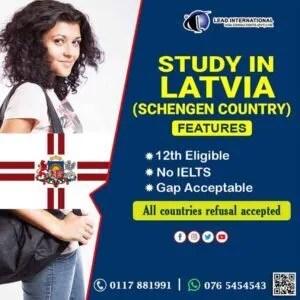 Study in Latvia Schengen Country