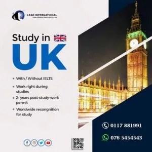 Study in UK September2021 Intake