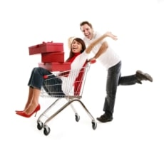 man-and-woman-shopping-cart