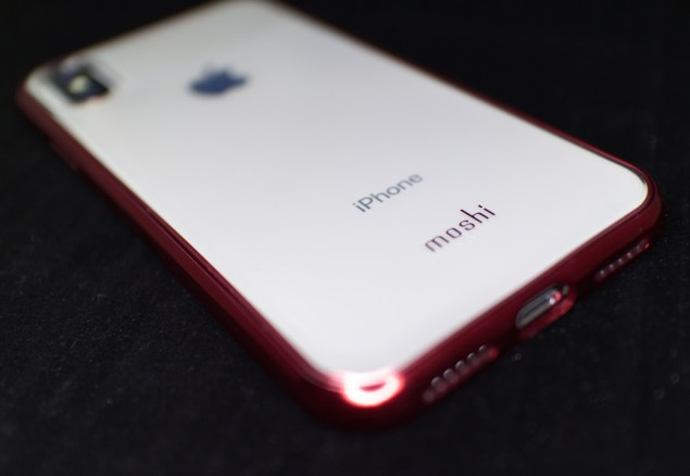 White iPhone X Moshi Vitros Case in Red