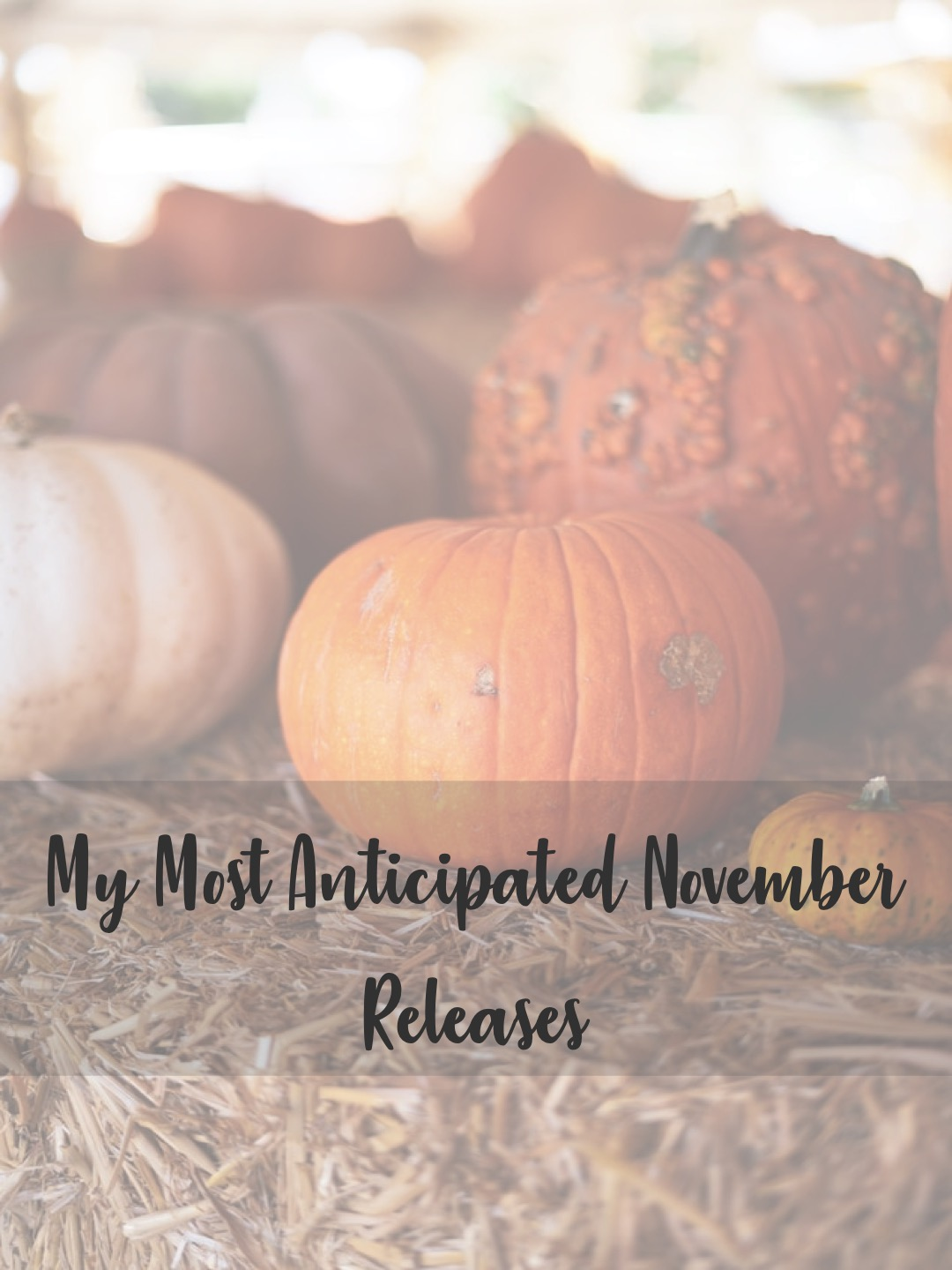 My Most Anticipated November Releases
