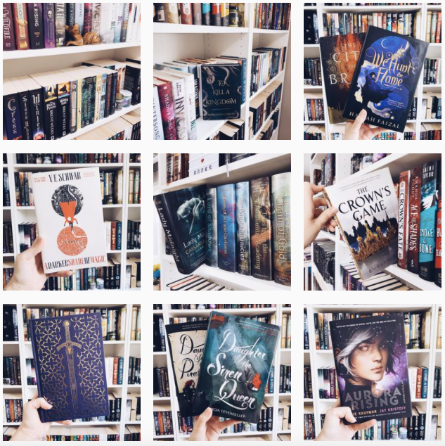 simple and  clean bookstagram
