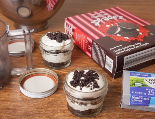 No Bake Peppermint Cookie Cheesecake Jars | Leafygreen.info