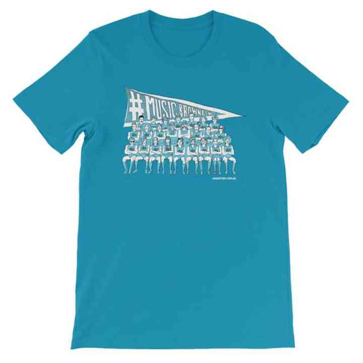 Music Brownlow football t shirt