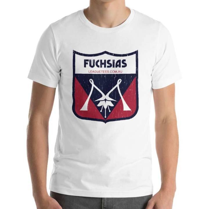 the fuchsias retro footy tshirt