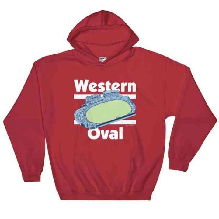 western oval vintage hoodie